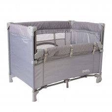 RED KITE QUIET TIME DREAMER BEDSIDE CRIB QUILT GREY