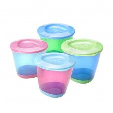 TOMMEE TIPPEE EXPLORA POP UP WEANING POTS X 2 ASSORTED