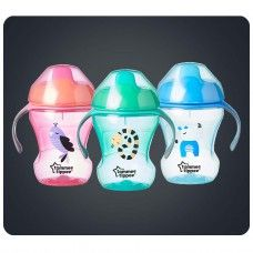 TOMMEE TIPPEE TRAINING SIPPY CUP 7M+ ASSORTED COLOURS