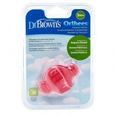 DR BROWN'S ORTHA TRANSITION TEETHER PINK