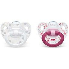 NUK SOOTHER HAPPY DAYS SILICONE SIZE 1 PINK X2