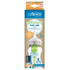 DR BROWN'S OPTIONS+ BOTTLE GLASS 270ML WIDE NECK X1