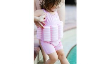 Konfidence Float Suit Pink Stripe