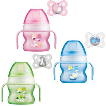 MAM Starter Cup 150ml with Handles and Soother 4+ mths 3 Pack