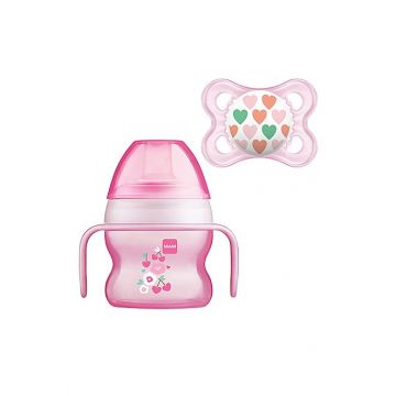 MAM Starter Cup 150ml with Handles and Soother 4+ mths Girls Colours