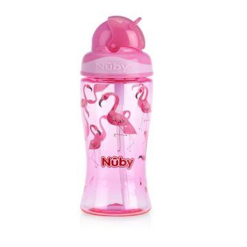 Nuby Flip it Toddler Cup 360ml Flamingo