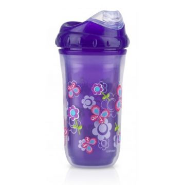 Nuby Toddler Sipeez Insulated Spout Cup 270ml Purple  Nuby Toddler Sipeez Insulated Spout Cup 270ml Purple