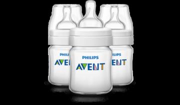 Philips AVENT Classic Bottle 4oz/125ML X 3